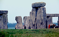 Wiltshire, England. May, 1973<br /> One of the most famous sites in the world, Stonehenge is the remains of a ring of standing stones set within earthworks. It is in the middle of the most dense complex of Neolithic and Bronze Age monuments in England. It was constructed from 3000 BC to 2000 BC. The surrounding circular earth bank and ditch, which constitute the earliest phase of the monument, have been dated to about 3100 BC. Credit: Mark Reinstein/MediaPunch