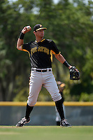 Pittsburgh Pirates Sam Kennelly (95) during a minor league spring training game against the Toronto Blue Jays on March 26, 2015 at Pirate City in Bradenton, Florida.  (Mike Janes/Four Seam Images)