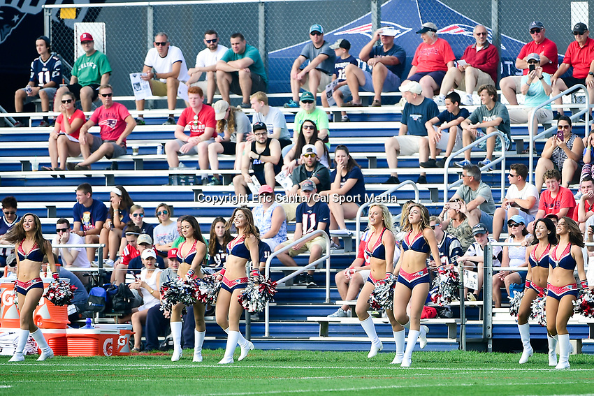 August 2, 2017: The New England Patriots Cheerleaders entertain fans at the New England Patriots training camp held at Gillette Stadium, in Foxborough, Massachusetts. Eric Canha/CSM