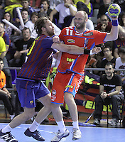 28.04.2012. Barcelona, Spain. Velux EHF Champions League (Quarter Final 2nd Leg). Picture show Olafur Stefansson in action during match between FC Barcelona Intersport against AG Copenhagen at Palau Blaugrana