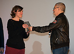 Festival Du cinema de Valenciennes - 19032014 - France -Jean-Jacques Beineix remets le prix à Sophie Audier pour son film