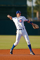 April 29 2010: DJ LeMahieu (17) of the Daytona Beach Cubs during a game vs. the Lakeland Flying Tigers at Jackie Robinson Ballpark in Daytona Beach, Florida. Daytona, the Florida State League High-A affiliate of the Chicago Cubs, lost the game against Lakeland, affiliate of the Detroit Tigers, by the score of 4-3  Photo By Scott Jontes/Four Seam Images
