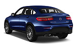 Car pictures of rear three quarter view of 2017 Mercedes Benz GLC-Coupe 300-4MATIC 5 Door SUV Angular Rear