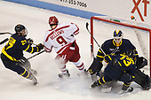 Patrick Kramer (Merrimack - 27), Kieffer Bellows (BU - 9), Collin Delia (Merrimack - 1), Brett Seney (Merrimack - 13) - The visiting Merrimack College Warriors defeated the Boston University Terriers 4-1 to complete a regular season sweep on Friday, January 27, 2017, at Agganis Arena in Boston, Massachusetts.The visiting Merrimack College Warriors defeated the Boston University Terriers 4-1 to complete a regular season sweep on Friday, January 27, 2017, at Agganis Arena in Boston, Massachusetts.