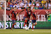 Juan Agudelo (18) of the United States. The men's national teams of the United States (USA) and Mexico (MEX) played to a 1-1 tie during an international friendly at Lincoln Financial Field in Philadelphia, PA, on August 10, 2011.