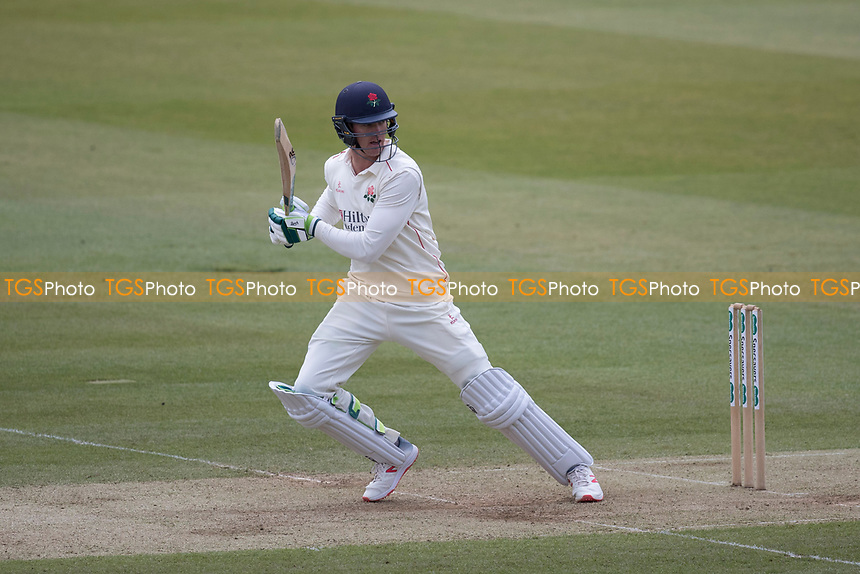 Keaton Jennings of Lancashire CCC drives backward of point during Middlesex CCC vs Lancashire CCC, Specsavers County Championship Division 2 Cricket at Lord's Cricket Ground on 12th April 2019
