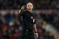 Todays match Referee Scott Duncan<br /> <br /> Photographer Rachel Holborn/CameraSport<br /> <br /> The EFL Sky Bet Championship - Nottingham Forest v Sheffield United - Saturday 3rd November 2018 - The City Ground - Nottingham<br /> <br /> World Copyright &copy; 2018 CameraSport. All rights reserved. 43 Linden Ave. Countesthorpe. Leicester. England. LE8 5PG - Tel: +44 (0) 116 277 4147 - admin@camerasport.com - www.camerasport.com