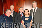 8927-8933.TERRACE TALK: Good banter was had by all attending the Kerry GAA supporters club annual social in the Ballygarry House Hotel, Tralee last Saturday night l-r: Pa Dunne, Tom Dowling, Weeshie Fogarty, Lillian and Owen Liston.