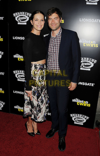 HOLLYWOOD, CA- SEPTEMBER 10: Actors Katie Aselton (L) and Mark Duplass attend 'The Skeleton Twins' Los Angeles premiere held at the ArcLight Hollywood on September 10, 2014 in Hollywood, California.<br /> CAP/ROT/TM<br /> &copy;Tony Michaels/Roth Stock/Capital Pictures