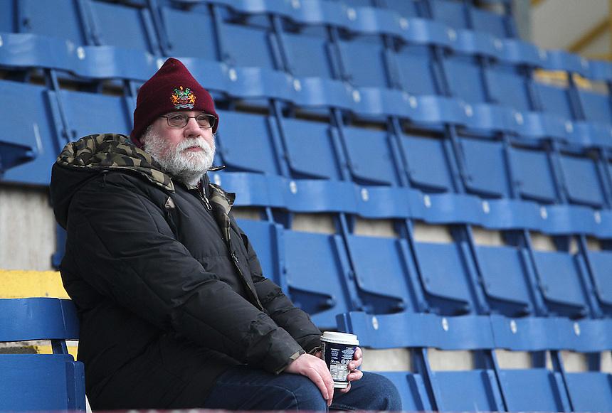 Burnley fans wait for kick-off<br /> <br /> Photographer Rich Linley/CameraSport<br /> <br /> Football - Barclays Premiership - Burnley v Swansea City - Friday 27th February 2015 - Turf Moor - Burnley<br /> <br /> &copy; CameraSport - 43 Linden Ave. Countesthorpe. Leicester. England. LE8 5PG - Tel: +44 (0) 116 277 4147 - admin@camerasport.com - www.camerasport.com
