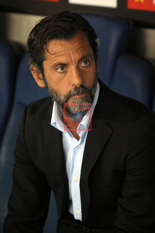 League Santander 2016/2017. Game: 2.<br /> RCD Espanyol vs Malaga CF: 2-2.<br /> Quique Sanchez Flores.