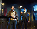 Hangmen by Martin McDonagh, directed by Matthew Dunster. With  Reece Shearsmith as Syd, David Morrissey as Harry. Opens at The Royal Court Jerwood Theatre Downstairs on 18/9/15. CREDIT Geraint Lewis