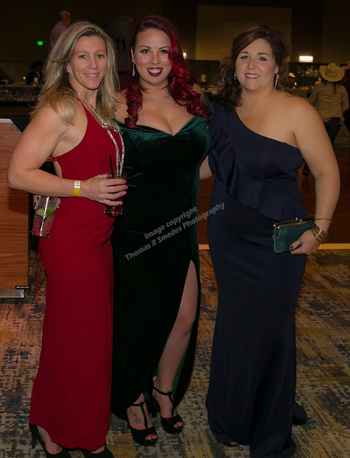 Jennifer Billat, Dawn Russell and Marcia Canepa during Fantasies in Chocolate at the Grand Sierra Resort on Saturday night, November 17, 2018.