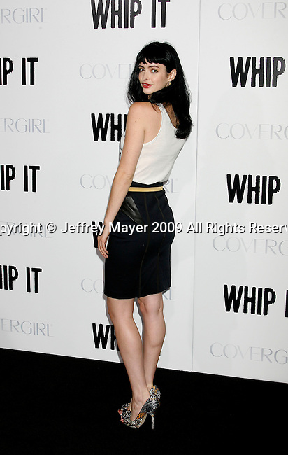 "HOLLYWOOD, CA. - September 29: Krysten Ritter arrives at the Los Angeles premiere of ""Whip It"" at the Grauman's Chinese Theatre on September 29, 2009 in Hollywood, California."