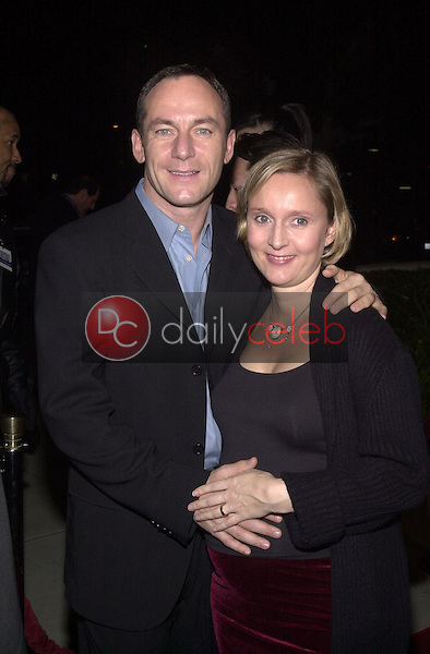 Jason Isaacs and wife Emma