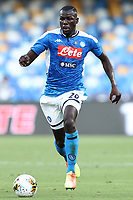 Kalidou Koulibaly of Napoli in action during the Serie A football match between SSC  Napoli and SPAL at stadio San Paolo in Naples ( Italy ), June 28th, 2020. Play resumes behind closed doors following the outbreak of the coronavirus disease. <br /> Photo Cesare Purini / Insidefoto
