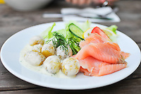 Cured salmon with dill potatoes at Fåfängan
