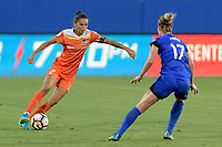 Frisco, TX - Sunday September 03, 2017: Poliana Barbosa Medeiros during a regular season National Women's Soccer League (NWSL) match between the Houston Dash and the Seattle Reign FC at Toyota Stadium in Frisco Texas. The match was moved to Toyota Stadium in Frisco Texas due to Hurricane Harvey hitting Houston Texas.