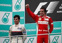 SEPANG, MALASIA, 25 DE MARCO 2012 - F1 - GP MALASIA  - O piloto espanhol Fernando Alonso, da Ferrari, durante o GP da Malásia, no circuito de Kuala Lumpur, em Sepang, neste domingo, 26. (FOTO: HOCH ZWEI / BRAZIL PHOTO PRESS).
