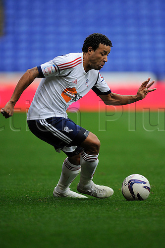 20.10.2012 Bolton, England.Tyrone Mears of Bolton in action during the Championship game between Bolton Wanderers and Bristol City from the Reebok Stadium.