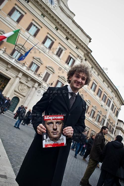 ROMA 15/03/2012: Inizia la XVII Legislatura della Repubblica Italiana. L'ingresso degli Onorevoli a Montecitorio. Nella foto Edoardo Falucci PD  FOTO DI LORETO ADAMO