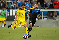 San Jose, CA - Saturday August 03, 2019: Artur #8 in a Major League Soccer (MLS) match between the San Jose Earthquakes and the Columbus Crew at Avaya Stadium.