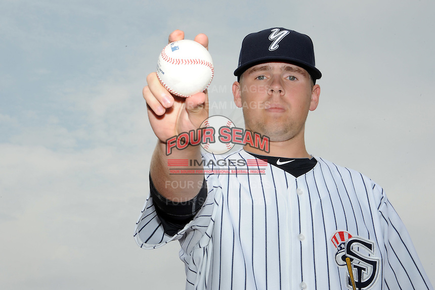 Staten Island Yankees pitcher Mikey O'Brian (14) during first team workout at Richmond County Bank Ballpark at St. George in Staten Island, NY June 15, 2010.  Photo By Tomasso DeRosa/ Four Seam Images