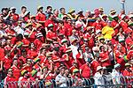 08.06.2019., stadium Gradski vrt, Osijek - UEFA Euro 2020 Qualifying, Group E, Croatia vs. Wales. Wales fans in the stands. <br /> <br /> Foto © nordphoto / Goran Stanzl/PIXSELL