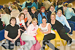 Steppin' Up: The new lady's dance squad at Joanne Barry's In-Step Dance School in Tralee where the women's classes have begun. Pictured at the first class of Fame 2009 on Wednesday night were from front left Richeal Moloney, Kate O'Regan, Cassie Leen and Grace Kelter. Back l-r Jennifer O'Shea, Gilly O'Keeffe, Emma O'Connor,  Joanne Barry (Instructor), Denise Buckley and Lisa Kelter.