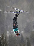 16 January 2009:  Lukas Vokaty, from the Czech Republic performs aerial acrobatics during the FIS Freestyle World Cup warm-ups at the Olympic Ski Jumping Facility in Lake Placid, NY, USA. Mandatory Photo Credit: Ed Wolfstein Photo. Contact: Ed Wolfstein, Burlington, Vermont, USA. Telephone 802-864-8334. e-mail: ed@wolfstein.net