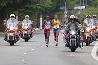 SÃO PAULO,SP, 09.04.2017 - MARATONA-SP - Pelotão de elite feminino passa pelo túnel Tribunal de Justiça, durante 23ª Maratona Internacional de São Paulo, realizada na manhã deste domingo, 09, em São Paulo. (Foto: Levi Bianco/Brazil Photo Press)