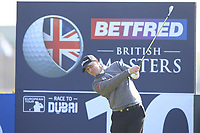 Richard McEvoy (ENG) on the 10th tee during Round 3 of the Betfred British Masters 2019 at Hillside Golf Club, Southport, Lancashire, England. 11/05/19<br /> <br /> Picture: Thos Caffrey / Golffile<br /> <br /> All photos usage must carry mandatory copyright credit (&copy; Golffile | Thos Caffrey)