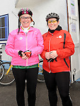 Stefanie Ward and Emma Payne who took part in the Glyde Rangers annual sponsored cycle in Tallinstown. Photo: Colin Bell/pressphotos.ie