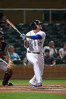 Salt River Rafters first baseman Rowdy Tellez (44) at bat during an Arizona Fall League game against the Scottsdale Scorpions on October 13, 2015 at Salt River Fields at Talking Stick in Scottsdale, Arizona.  Salt River defeated Scottsdale 5-3.  (Mike Janes/Four Seam Images)