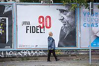 2016/08/09 Berlin | Plakataktion 90. Geburtstag Fidel Castro