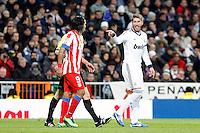 Radamel Falcao and Sergio Ramos during La Liga Match. December 01, 2012. (ALTERPHOTOS/Caro Marin)