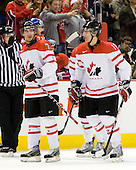 Angelo Esposito (Canada - 7), Alex Pietrangelo (Canada - 10) - Team Canada defeated the Czech Republic 8-1 on the evening of Friday, December 26, 2008, at Scotiabank Place in Kanata (Ottawa), Ontario during the 2009 World Juniors U20 Championship.