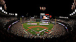 30 March 2008: The teams are introduced, the national anthem sung, and fireworks explode prior to the Opening Day Game, as the Washington Nationals inaugurate Nationals Park in Washington, DC. The Nationals christened their new ballpark with a win over the visiting Atlanta Braves 3-2 in the first game at the state-of-the-art sports facility...Mandatory Photo Credit: Ed Wolfstein Photo..Mandatory Photo Credit: Ed Wolfstein Photo