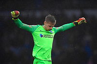 Portsmouth keeper Alex Bass during Portsmouth vs Shrewsbury Town, Sky Bet EFL League 1 Football at Fratton Park on 15th February 2020