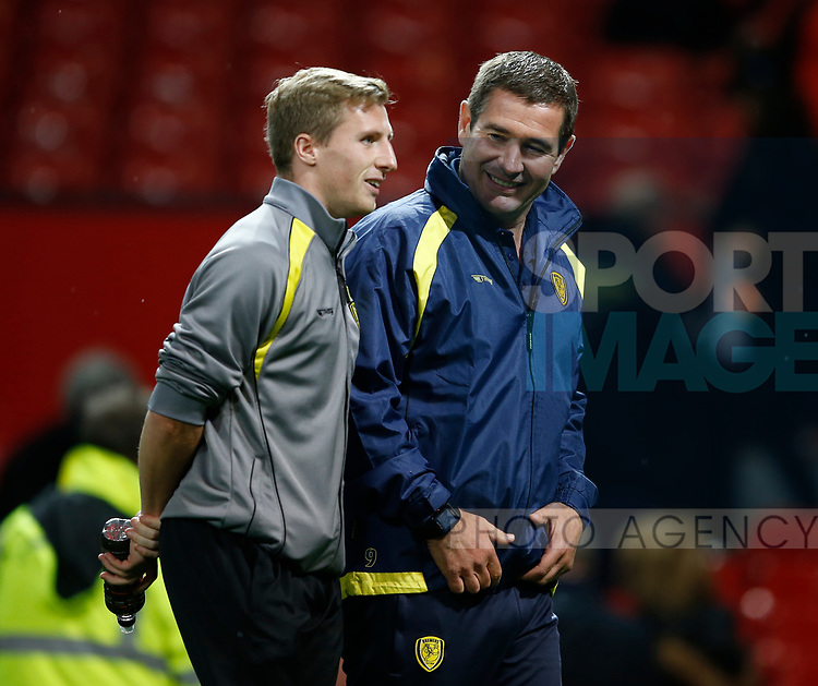 Nigel Clough manager of Burton Albion smiles after loosing the game during the Carabao Cup Third Round match at the Old Trafford Stadium, Manchester. Picture date 20th September 2017. Picture credit should read: Simon Bellis/Sportimage