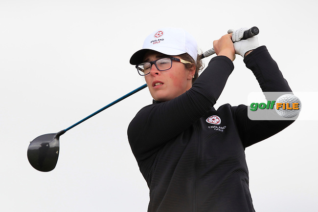 Emily Toy (ENG) on the 8th tee during Round 3 Matchplay of the Women's Amateur Championship at Royal County Down Golf Club in Newcastle Co. Down on Friday 14th June 2019.<br /> Picture:  Thos Caffrey / www.golffile.ie