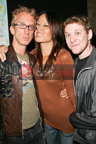 Andy Dick, Helen Wong and Sam Saturday<br /> at the L Salon Art Show, featuring pieces by Bryan Kirkwood, L Salon, Los Angeles, CA 09-23-06<br /> David Edwards/DailyCeleb.Com 818-249-4998