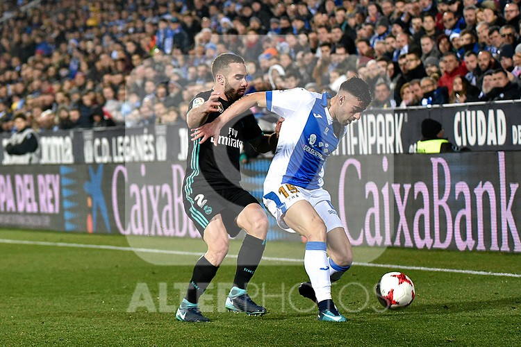 Leganes Diego Rico vs Real Madrid Daniel Carvajal during Copa del Rey  match. A quarter of final go. 20180118.