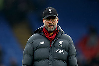 23rd November 2019; Selhurst Park, London, England; English Premier League Football, Crystal Palace versus Liverpool; Liverpool Manager Jurgen Klopp - Strictly Editorial Use Only. No use with unauthorized audio, video, data, fixture lists, club/league logos or 'live' services. Online in-match use limited to 120 images, no video emulation. No use in betting, games or single club/league/player publications