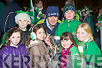 The Milltown/Castlemaine supporters get their hands on the cup at the home coming in Milltown on Monday night  l-r: Emma Casey, Darragh McCarthy, Alice Casey, John Fintan Daly, Sean Hogan, Maura Burke and Sarah Burke..