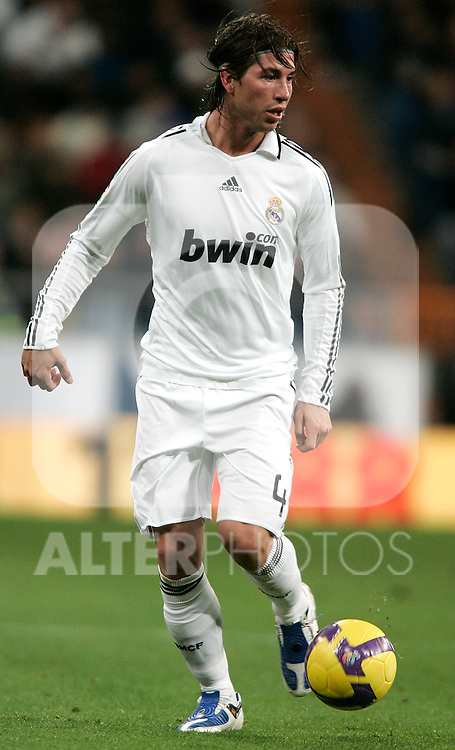 Real Madrid's Sergio Ramos during La Liga match, January 25, 2009. (ALTERPHOTOS).
