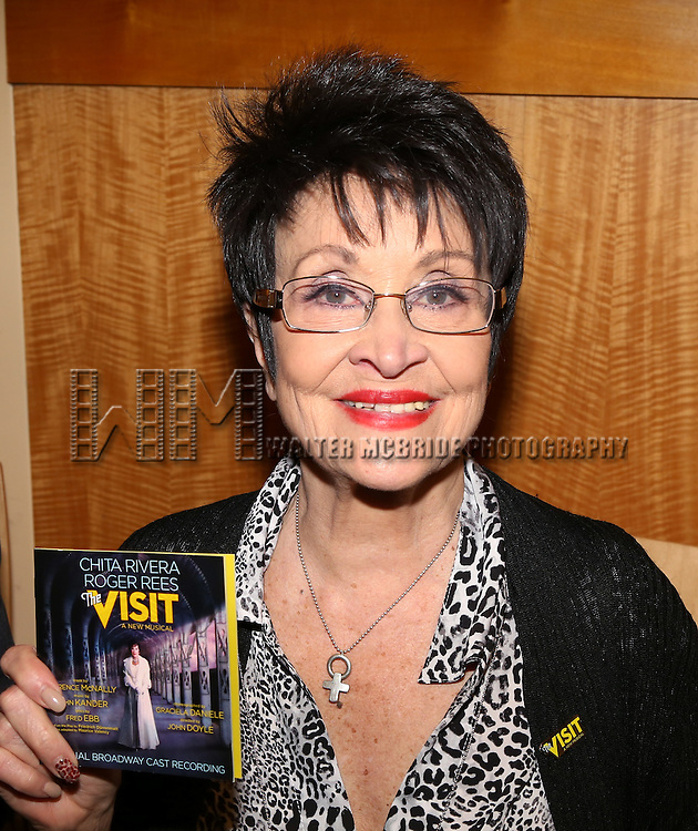 Chita Rivera attends the Original Broadway cast recording of 'The Visit' signing at Barnes & Noble, 86th & Lexington on July 9, 2015 in New York City.