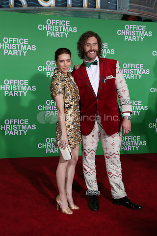 WESTWOOD, CA - DECEMBER 07: T. J. Miller, Kate Gorney arive at the premiere of Paramount Pictures' 'Office Christmas Party' at Regency Village Theatre on December 7, 2016 in Westwood, California.  (Credit: Parisa Afsahi/MediaPunch).
