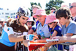Tony Gallopin (FRA) AG2R La Mondiale with fans at sign on before the start of Stage 5 of the 2018 Tour de France running 204.5km from Lorient to Quimper, France. 11th July 2018. <br /> Picture: ASO/Alex Broadway | Cyclefile<br /> All photos usage must carry mandatory copyright credit (&copy; Cyclefile | ASO/Alex Broadway)