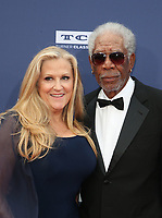 HOLLYWOOD, CA - JUNE 6: Lori McCreary, Morgan Freeman, at The American Film Institute's 47th Life Achievement Award Gala Tribute To Denzel Washington at the Dolby Theatre in Hollywood, California on June 6, 2019.    <br /> CAP/MPI/SAD<br /> ©SAD/MPI/Capital Pictures